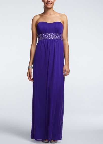 Strapless Empire Beaded Empire Waist Dress 8420CW8B