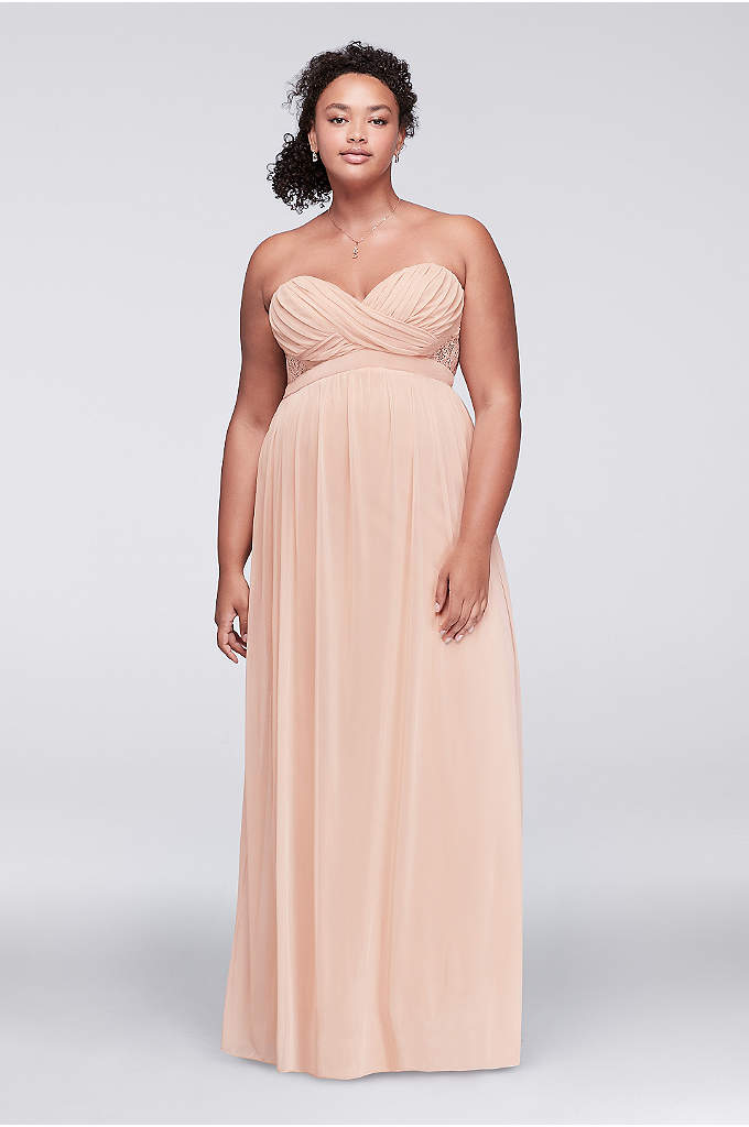 Wedding Dresses Jersey City : Taffeta scoop neck ruched bridal gown with tiering david s