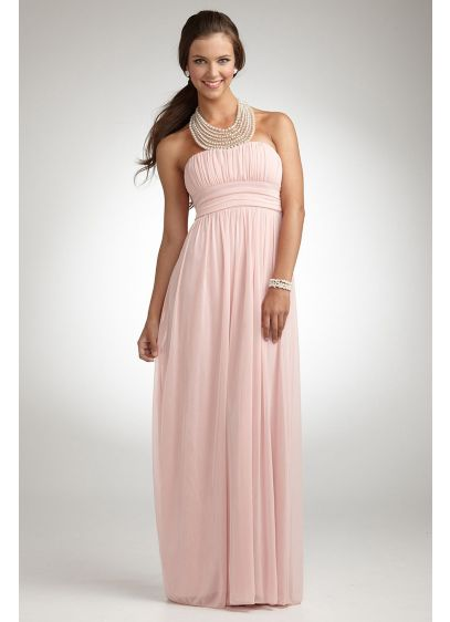 Long Sheath Halter Prom Dress - City Triangles