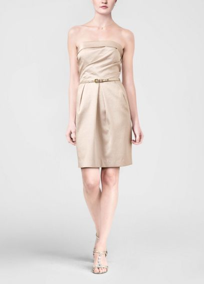 Strapless Crepe Dress with Belt 84583
