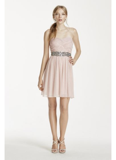 Short A-Line Strapless Cocktail and Party Dress - City Triangles