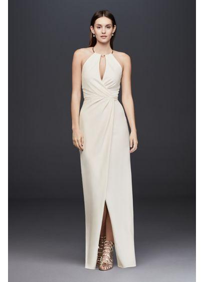 Long Sheath Beach Wedding Dress - JS Collections