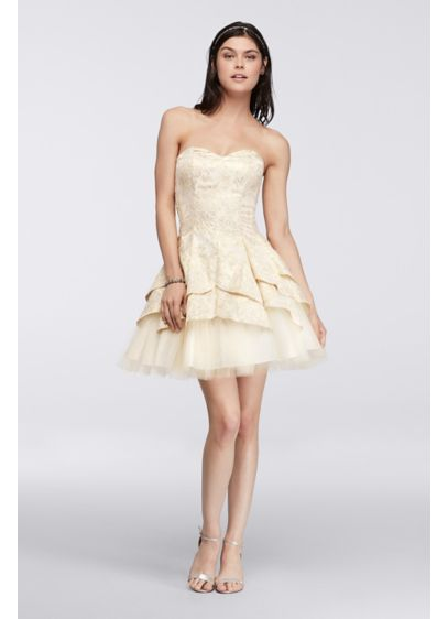 Short Ballgown Strapless Quinceanera Dress - Masquerade