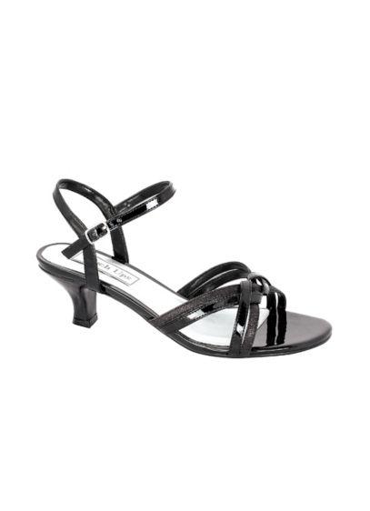 Touch Ups Grey (Melanie Metallic Low Heel Quarter Strap Sandals)