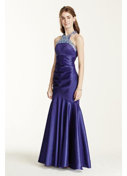 Long 0 Halter Prom Dress - City Triangles
