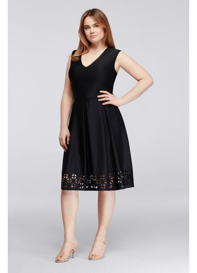 Short A-Line Cap Sleeves Cocktail and Party Dress - Connected Apparel