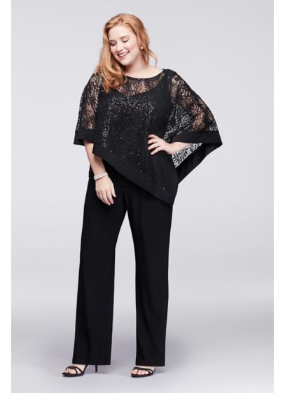 Long Jumpsuit Capelet Mother and Special Guest Dress - RM Richards