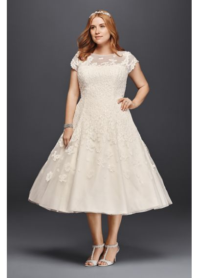 Cap Sleeve Wedding Dress with Illusion Neckline 8CMK513