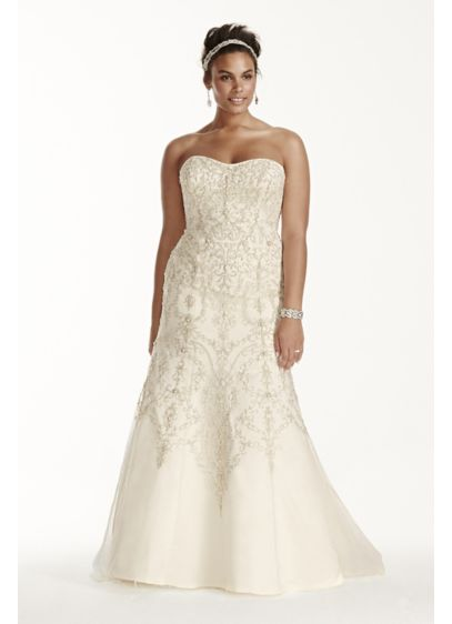Long 0 Beach Wedding Dress - Oleg Cassini