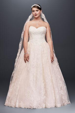 Delicieux Long Ballgown Formal Wedding Dress   Oleg Cassini