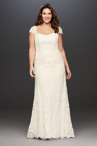 Melissa Sweet Vintage Lace Plus Size Wedding Dress - Davids Bridal