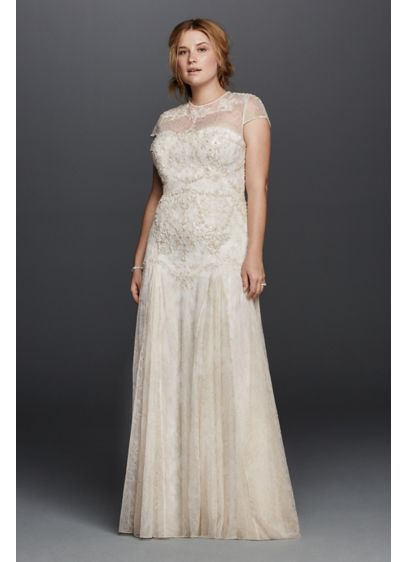 Long Sheath Beach Wedding Dress - Melissa Sweet