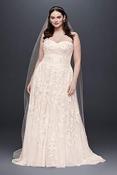 Light pink blush wedding dresses davids bridal long a line vintage wedding dress melissa sweet junglespirit Gallery