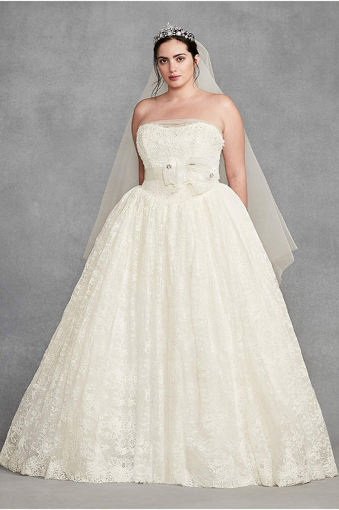 White by Vera Wang Corded Plus Size Wedding - A first for White by Vera Wang, this