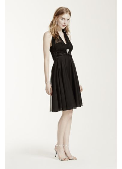 Short A-Line Halter Graduation Dress - XOXO