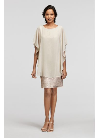 Long Sheath Short Sleeves Cocktail and Party Dress - RM Richards