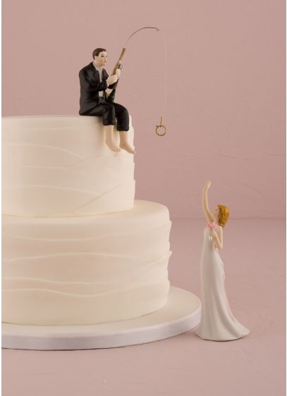 Hooked on Love Cake Topper - Wedding Gifts & Decorations