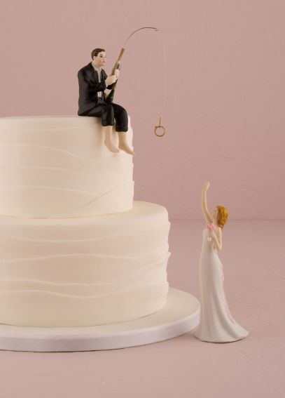 Hooked on Love Groom Cake Topper 9014