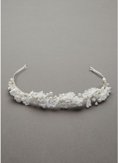 Flower and Pearl Headband - Wedding Accessories