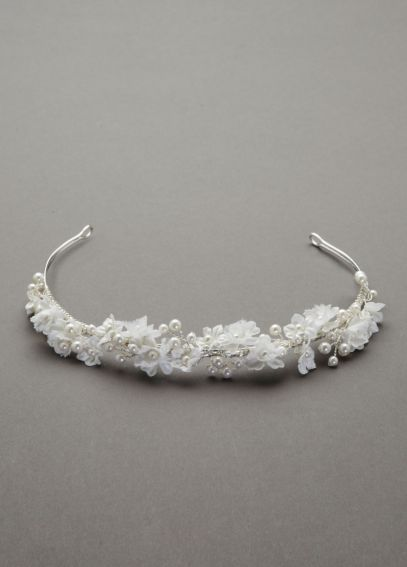 Flower and Pearl Headband 9021