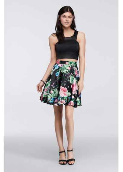 Homecoming Two Piece Crop Top and Floral Skirt 9030956
