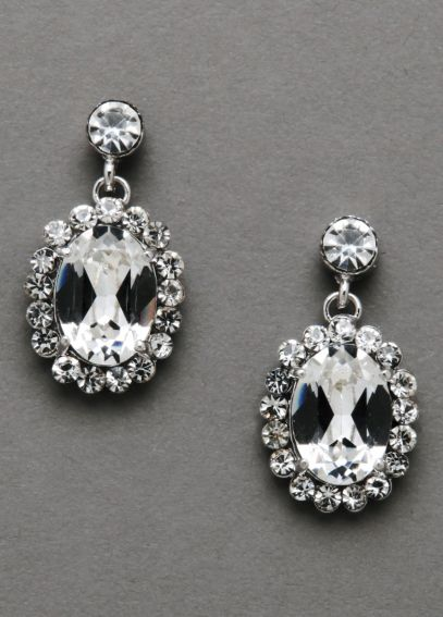 Large Sparkling Vine Crystal Earrings 9050E
