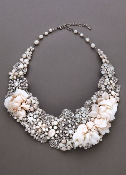 Mixed Media Statement Necklace 9051N