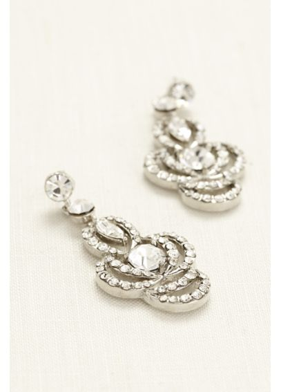 Chandelier Earrings with Large Center Stone 9055E