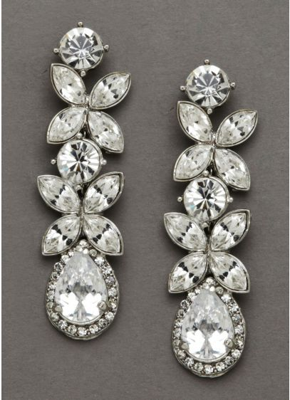Classy Bold Dangle Crystal Earrings - Wedding Accessories