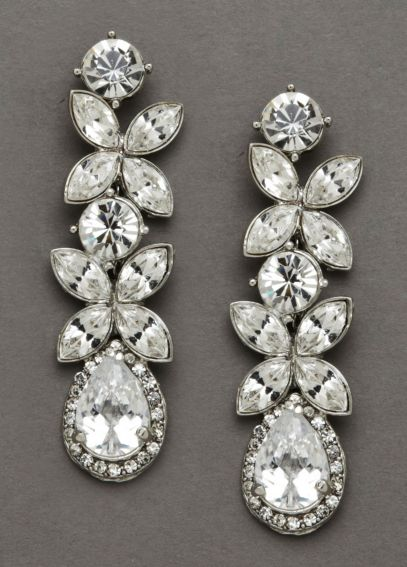 Classy Bold Dangle Crystal Earrings 9056E