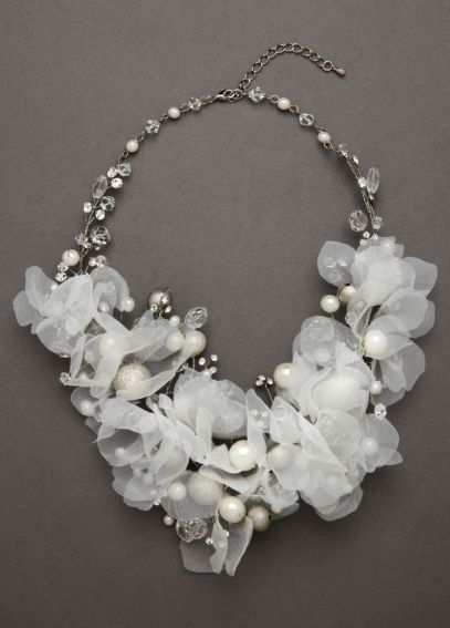 Floral Bouquet Crystal Necklace 9074N