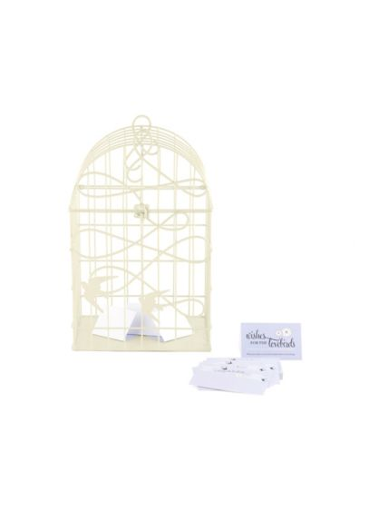Birds In Flight Decorative Birdcage Card Holder - Wedding Gifts & Decorations