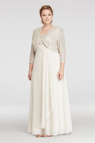 RM Champagne Lace Dress