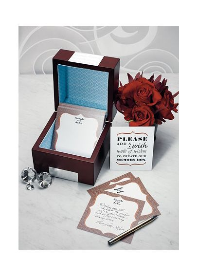 Personalized Wooden Memory Note Box   9162