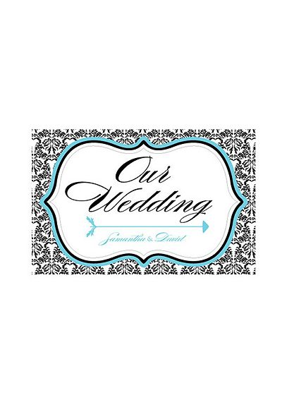 Love Bird Damask Wedding Directional Sign 9185-1044-50
