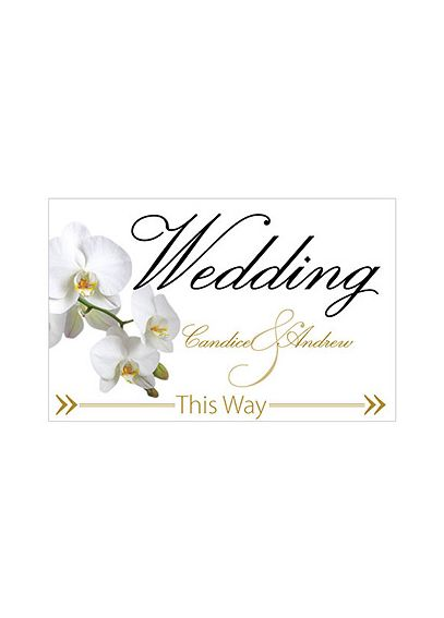 Classic Orchid Wedding Directional Sign 9185-1152-50