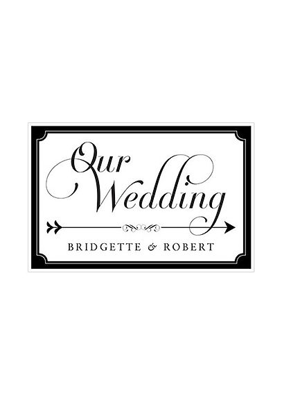 Expressions Wedding Directional Sign 9185-1164-50