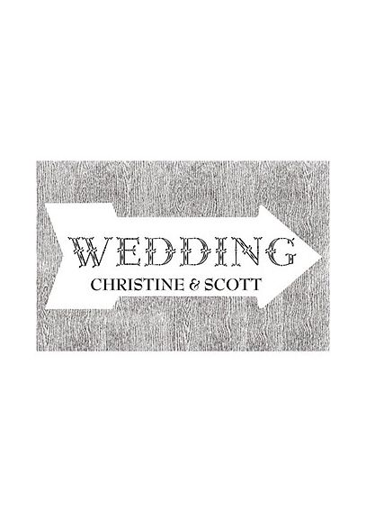 Pointing Arrow Wedding Directional Sign 9185-1183-50