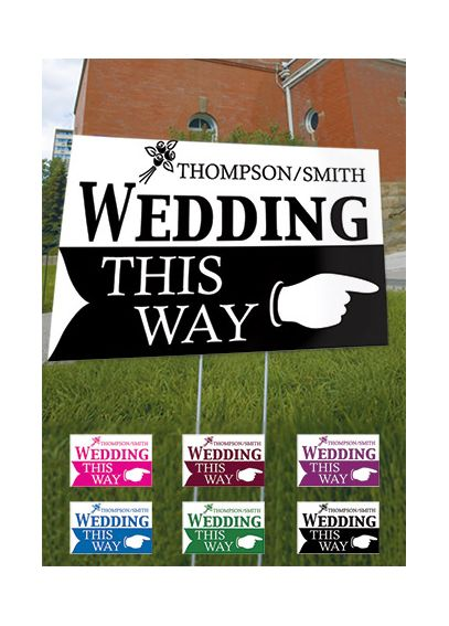 Wedding This Way Wedding Directional Sign 9185-1184-50