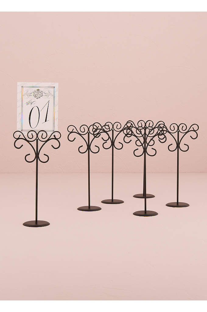 Ornamental Wire Table Card Holder Pack of 6 - These decorative Table Card Holders will add elegance