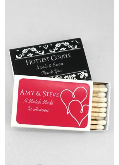 DB Exclusive Personalized Match Box Pack of 50 - Wedding Gifts & Decorations
