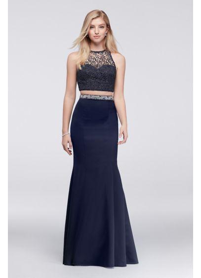 Long Mermaid/ Trumpet Halter Prom Dress - My Michelle