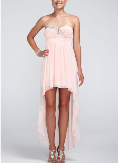 Short A-Line Strapless Dress -