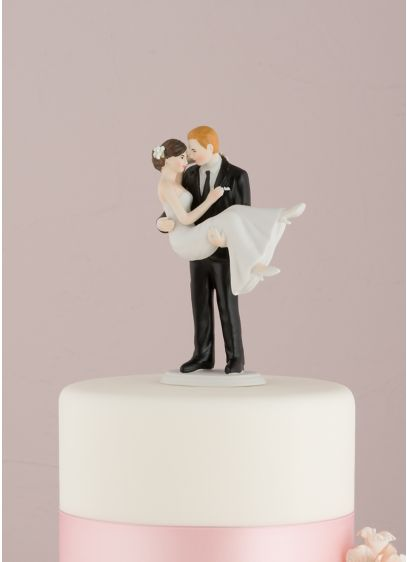 Personalized Swept Up in His Arms Cake Topper - Wedding Gifts & Decorations