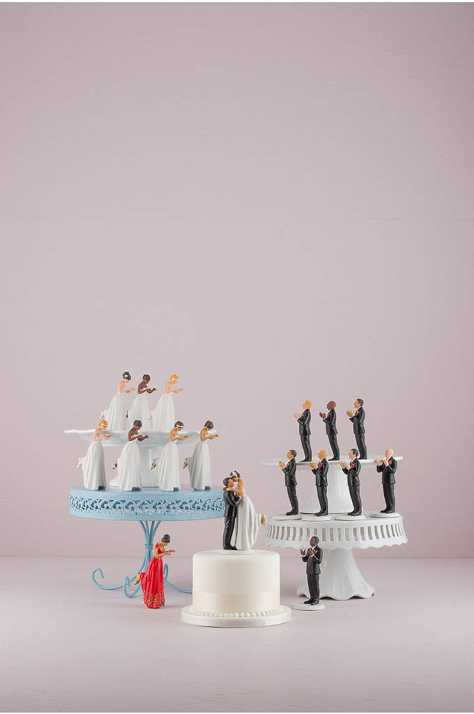 Interchangeable True Romance Cake Topper - These interchangeable figurines can be combined to create