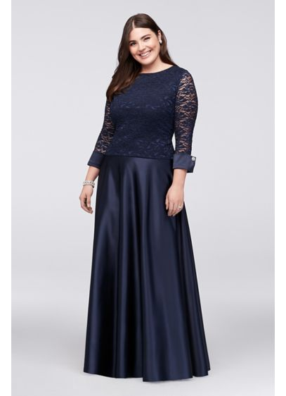 Long Ballgown 3/4 Sleeves Formal Dresses Dress - Jump