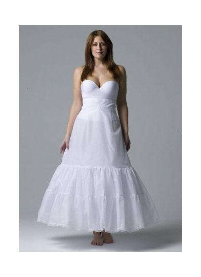 Plus size: A-Line Medium Fullness 2-Tier Slip - Wedding Accessories