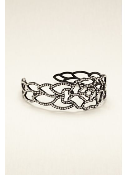 Black Rhinestone Headband - Wedding Accessories
