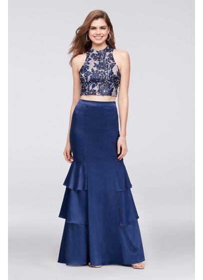 Long Mermaid/ Trumpet Halter Formal Dresses Dress - Sequin Hearts