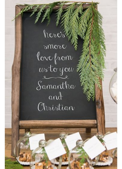 Standing Rustic Frame Chalkboard Sign - Wedding Gifts & Decorations